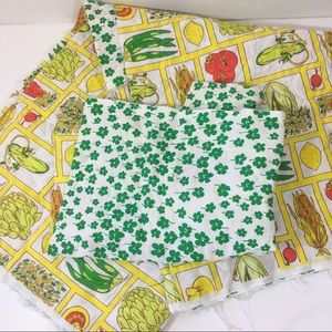 Vintage 70's 80's quilted fabric reversible craft